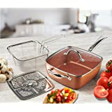 Chef Quality Copper 4 in 1 Multi Purpose Non Stick Deep Sided Induction Pan Set