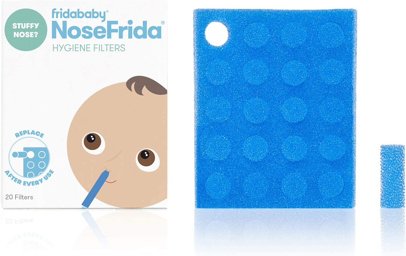 Pack of 20 Baby Nasal Aspirator Hygiene Filters For Nose Frida The Snotsucker
