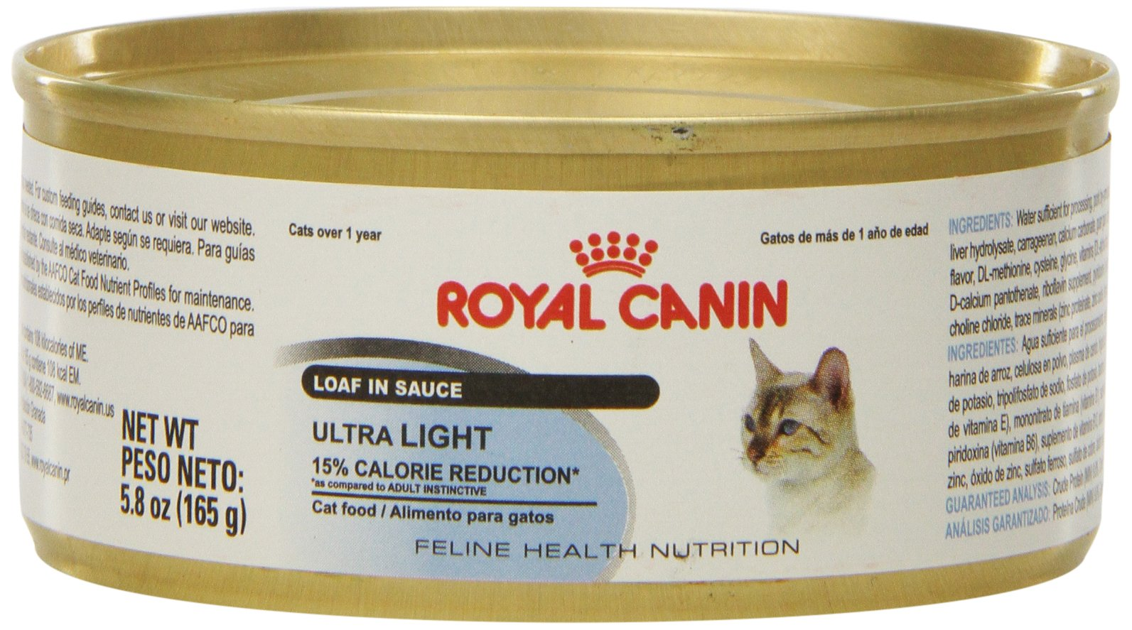 Royal Canin Feline Health Nutrition Ultralight Loaf in Sauce Canned Cat Food (24 Pack), 5.8 oz/One Size