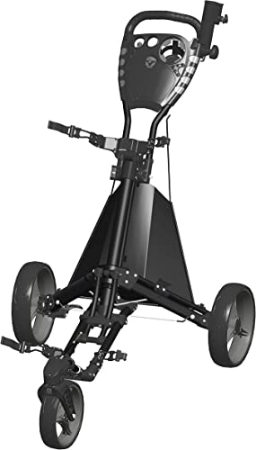 Easy Drive Push Cart, Swiveling Front Wheel – Black Gray – GCDRIVE-BS