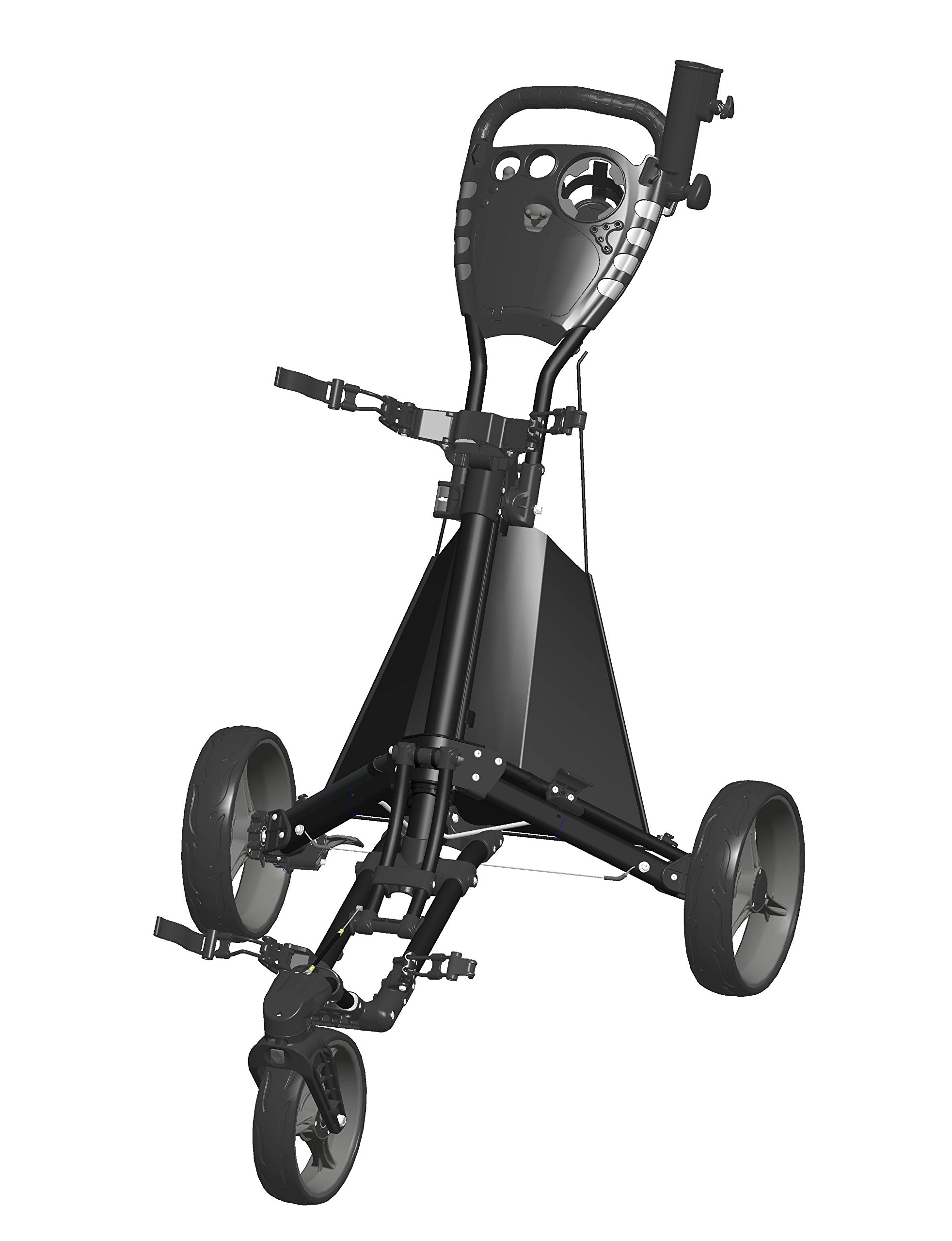 Easy Drive Push Cart, Swiveling Front Wheel - Black/Gray - GCDRIVE-BS