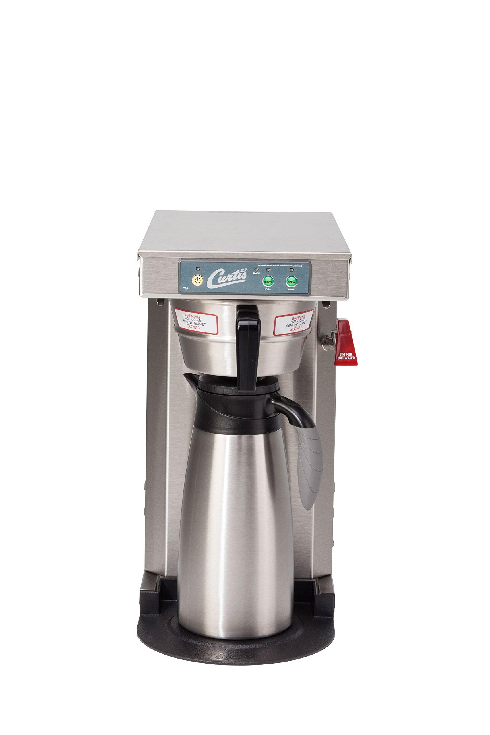 Wilbur Curtis G3 Low Profile Airpot Brewer 2.5L Airpot/Pourpot Single Low Profile Coffee Brewer Stainless Steel Finish - Commercial Airpot Coffee Brewer  - TLP12A (Each)