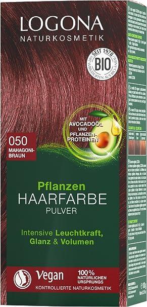 Logona Naturkosmetik Pflanzen Haarfarbe Pulver 050 Mahagonibraun Mit Avocadoöl Braun Rot Vegan Natürlich Rote Natur Haarfarbe Mit Henna