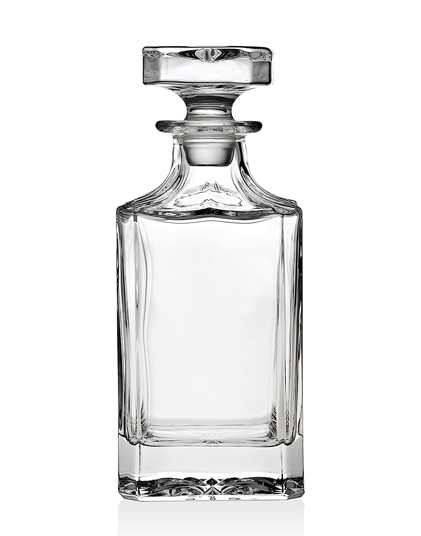 Whiskey Dekanter f/ür Whisky Scotch Bourbon Oder Wein /750/ml Nicht Bleikristall/