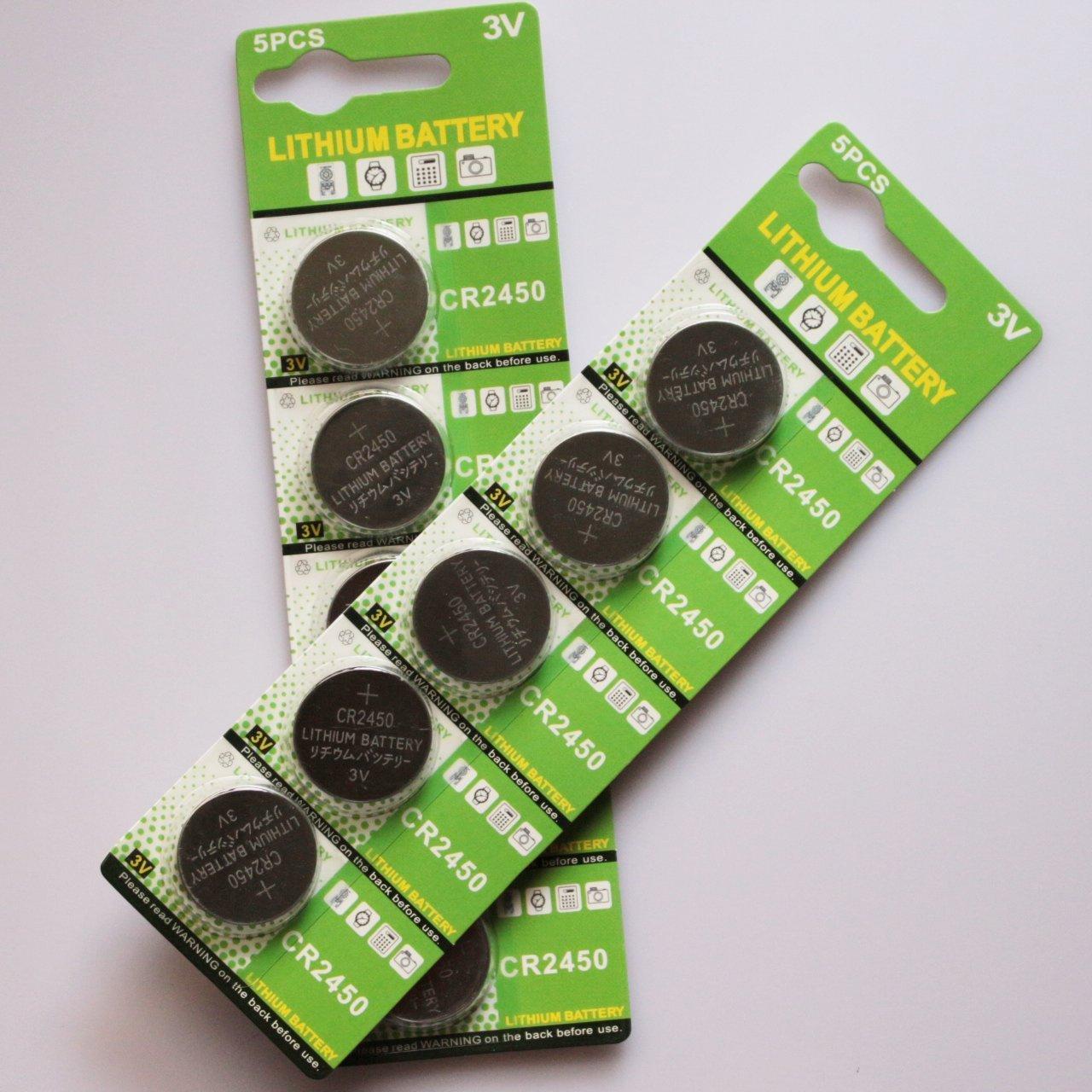 Innovator High Capacity 3V 600mah Button Battery CR2450(10 PCS)