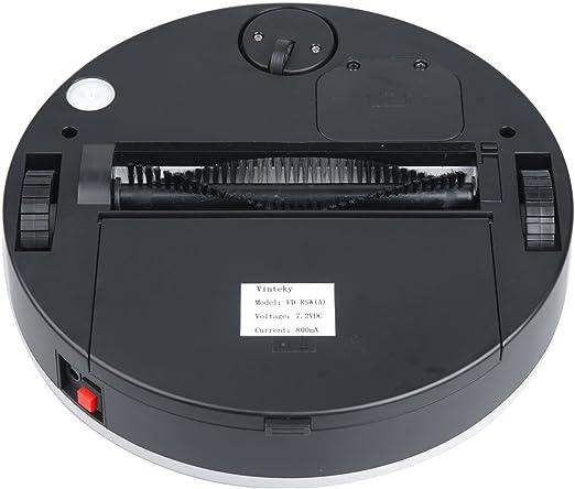 Vinteky/®Robot Aspirador Aut/ónomo Inteligente con 3 Programas de Tiempo de Limpieza Rojo
