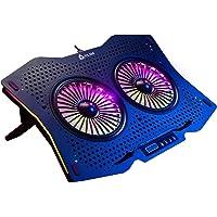 """KLIM Halo + Base de refrigeración para portátiles RGB - 11"""" a 17"""" + Refrigeración para portátil Gaming con Ventilador…"""
