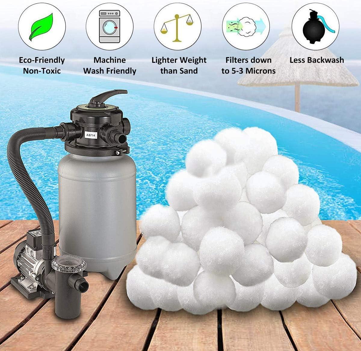 Aitsite 700g Bolas de Filtro Depuradora Piscina Remplazar 25 kg de ...
