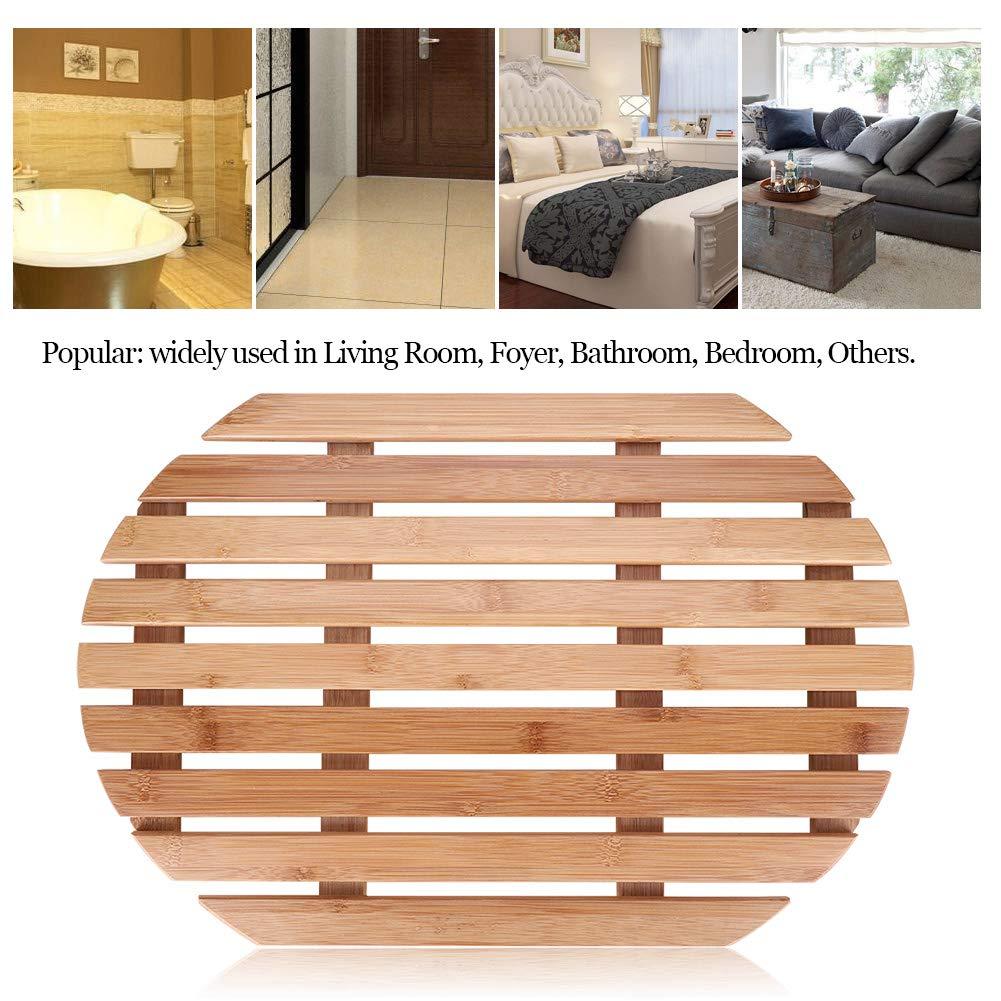 tapis salle de bain rectangulaire avec lattes marron mDesign tapis en bambou antid/érapant pour int/érieur ou ext/érieur accessoire salle de bain /écoresponsable et moderne pour douche ou baignoire