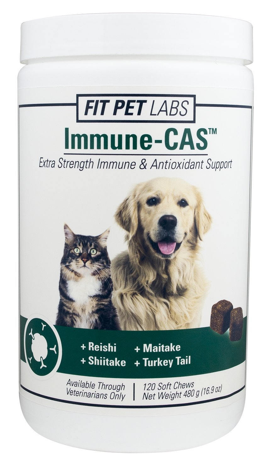 Fit Pet Labs Immune-CAS Extra Strength Immune & Antioxidant Support For Dogs and Cats - 120 Soft Chews by Fit Pet Labs