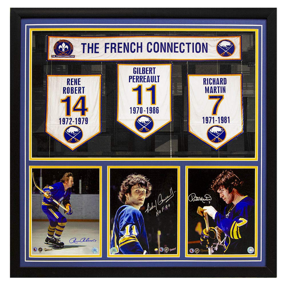 best website 5187d 85e6f Buffalo Sabres Robert, Perreault & Martin Autographed Signed ...