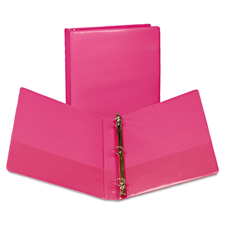 Samsill U86376 Fashion View Binder Round Ring 11 x 8-1/2 1'' Capacity Berry 2/Pack