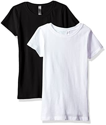 bb47304dd3250e Amazon.com  Clementine Apparel Girls  Big Everyday T-Shirts Crew 2 ...