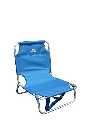 Sunncamp FN1039 Chaise Basse Pliante Bleu