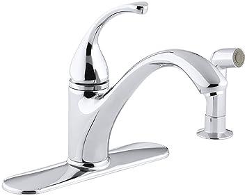 Kohler K 10412 Cp Forte Single Control Kitchen Sink Faucet Polished