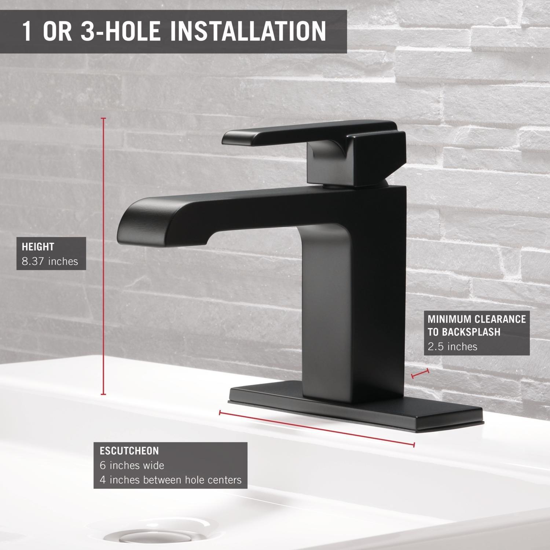 Delta Ara Single-Handle Bathroom Faucet, Stainless 567LF-SSLPU ...