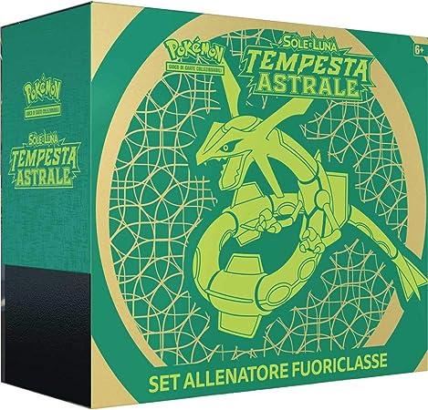 Pokémon Set Allenatore Fuoriclasse Sole E Luna Tempesta Astrale It Colore Verde 110 Amazon It Giochi E Giocattoli