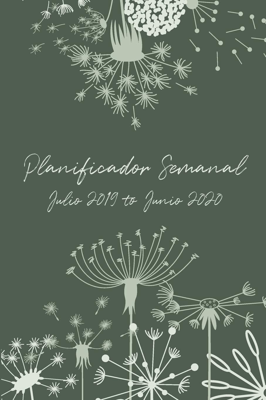 Planificador Semanal Julio 2019 - Junio 2020: Una Semana Por ...