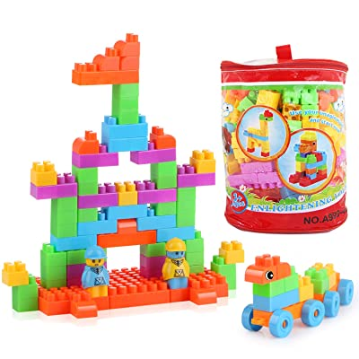 LH Kids Building Blocks for Toddler (160pcs) DIY Stackable Multi Colored?Building Bricks Toys for 1-3 Year Old¡: Toys & Games