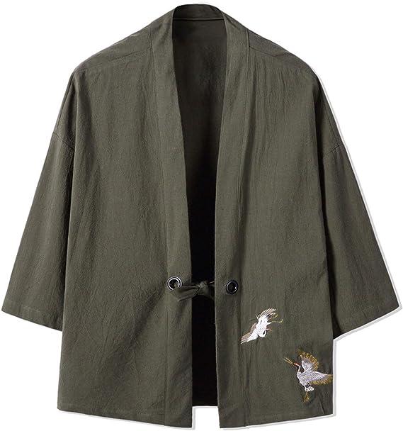 Kimono Cardigan Hombres, Bordado Japonés Masculino ...