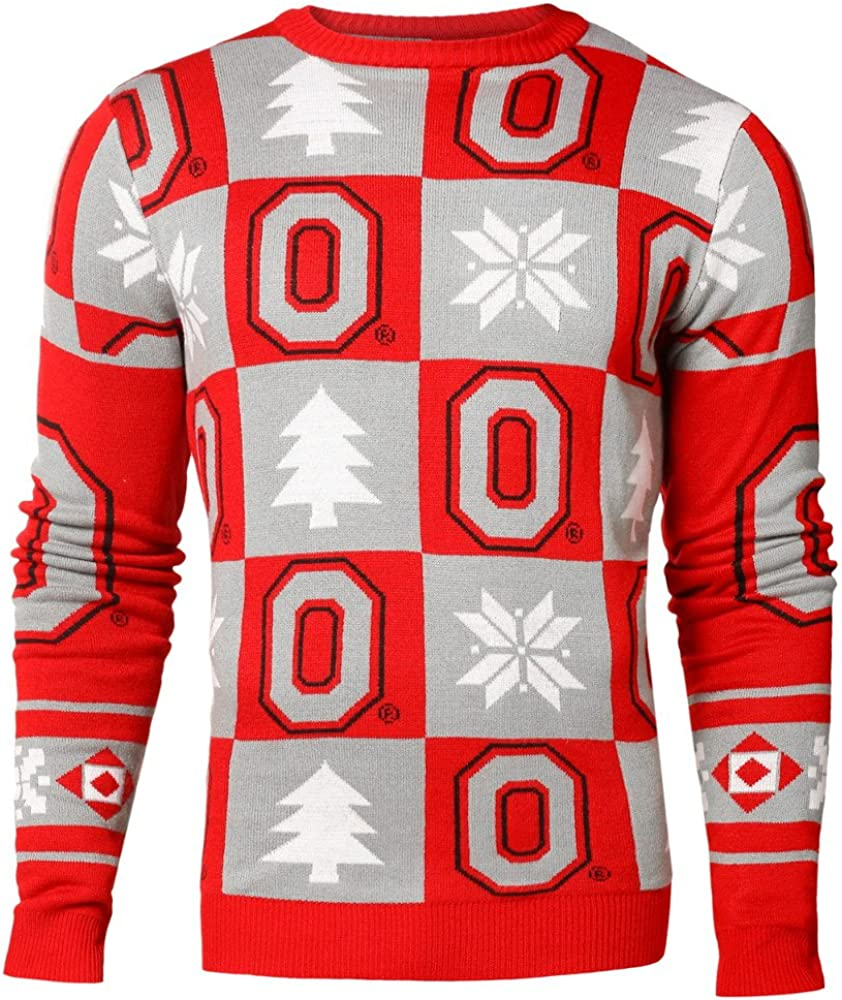 FOCO NCAA Mens (2016 Edition) Patches Ugly Crew Neck Sweater