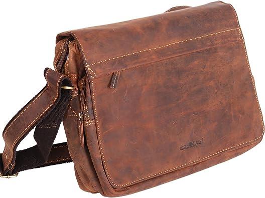 GREENBURRY Vintage 1766b-25 Pelle Borsa a Tracolla Messenger