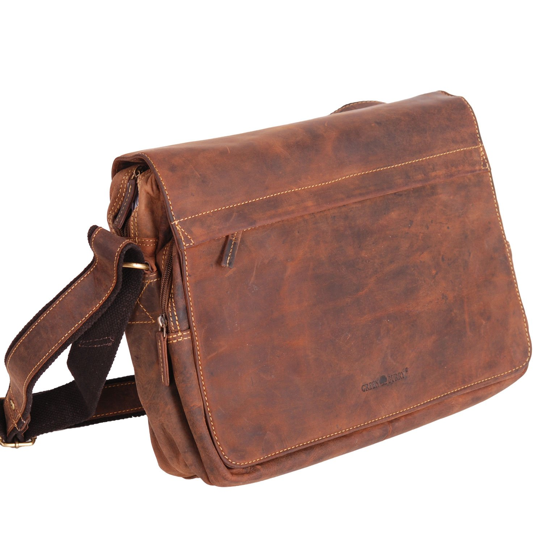 Greenburry Vintage 1766-25 Messenger borse in pelle
