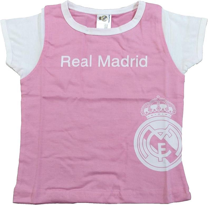 Camiseta Real Madrid Niñas - Rosa - Escudo Real Madrid Blanco (6 ...