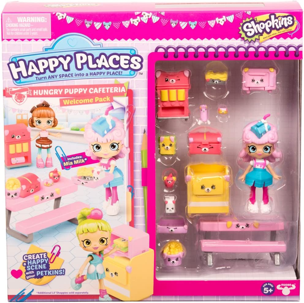 Shopkins Happy Places Season 3 Welcome Pack - Hungry Puppy Cafeteria