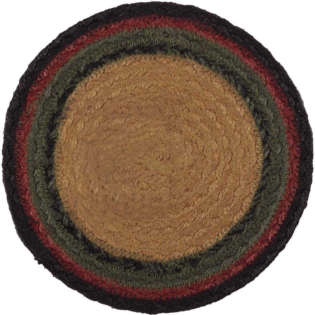 VHC Brands Rustic /& Lodge Tabletop /& Kitchen Red Wyatt Tan Bear Jute Trivet