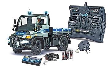Carson 500907213 1:12 Unimog U300 mit Anhänger Elektrisches Spielzeug