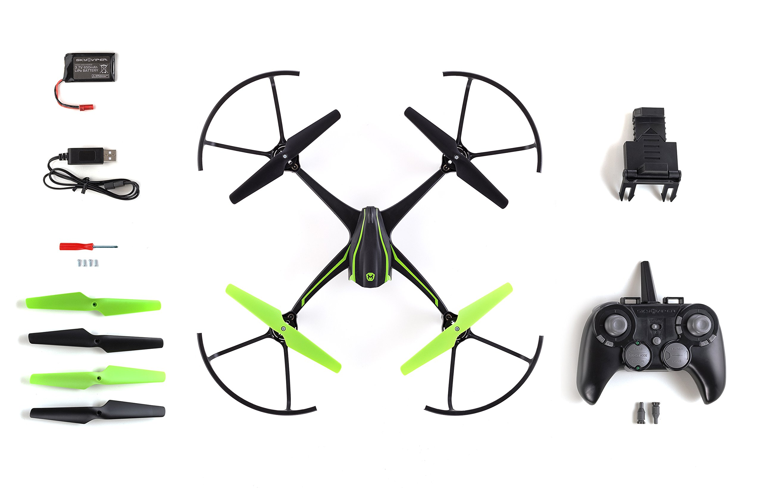 Sky Viper v2450HD Streaming Drone with Flight Assist & 2X Improved Flight Range - 2017 Edition by Sky Viper (Image #6)