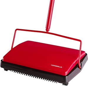 "Casabella Carpet Sweeper 11"" Electrostatic Floor Cleaner - Red"