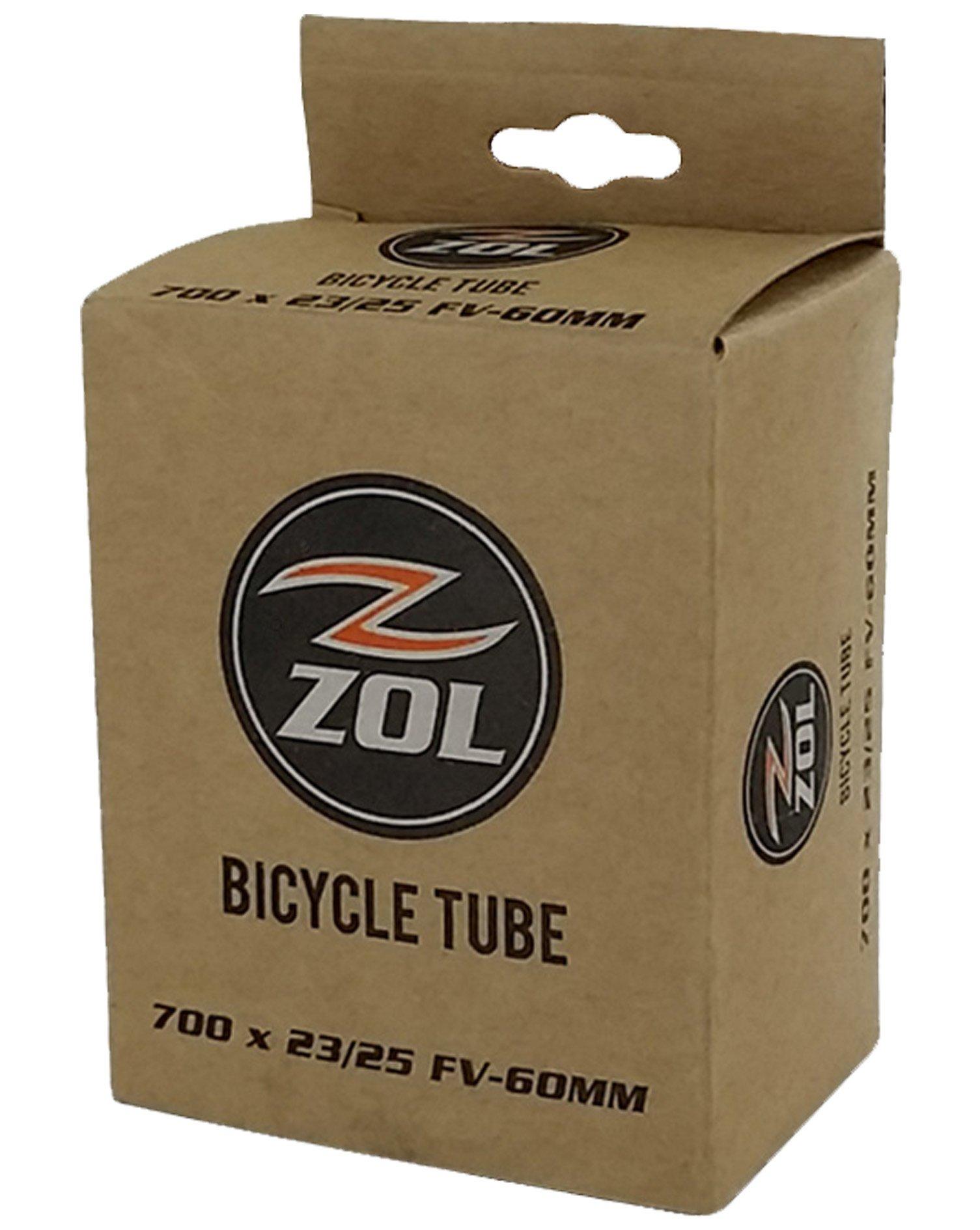 Zol Road Bicycle Bike Inner Tube 700x23/25C PRESTA/FRENCH Valve 60mm