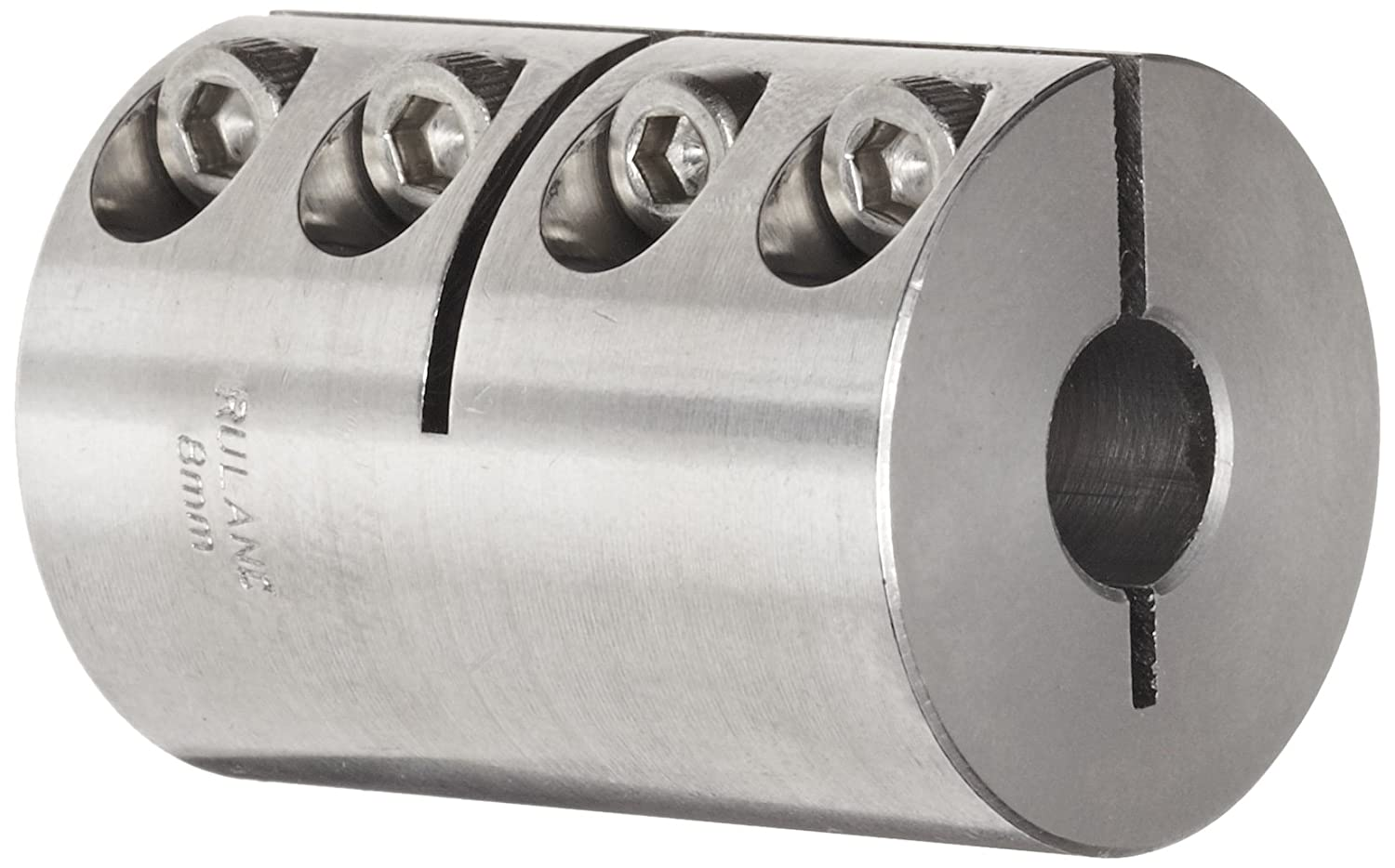 Metric 50mm Length 16mm Bore A Diameter 16mm Bore B Diameter Stainless Steel Ruland MCLX-16-16-SS One-Piece Clamping Rigid Coupling 34mm OD
