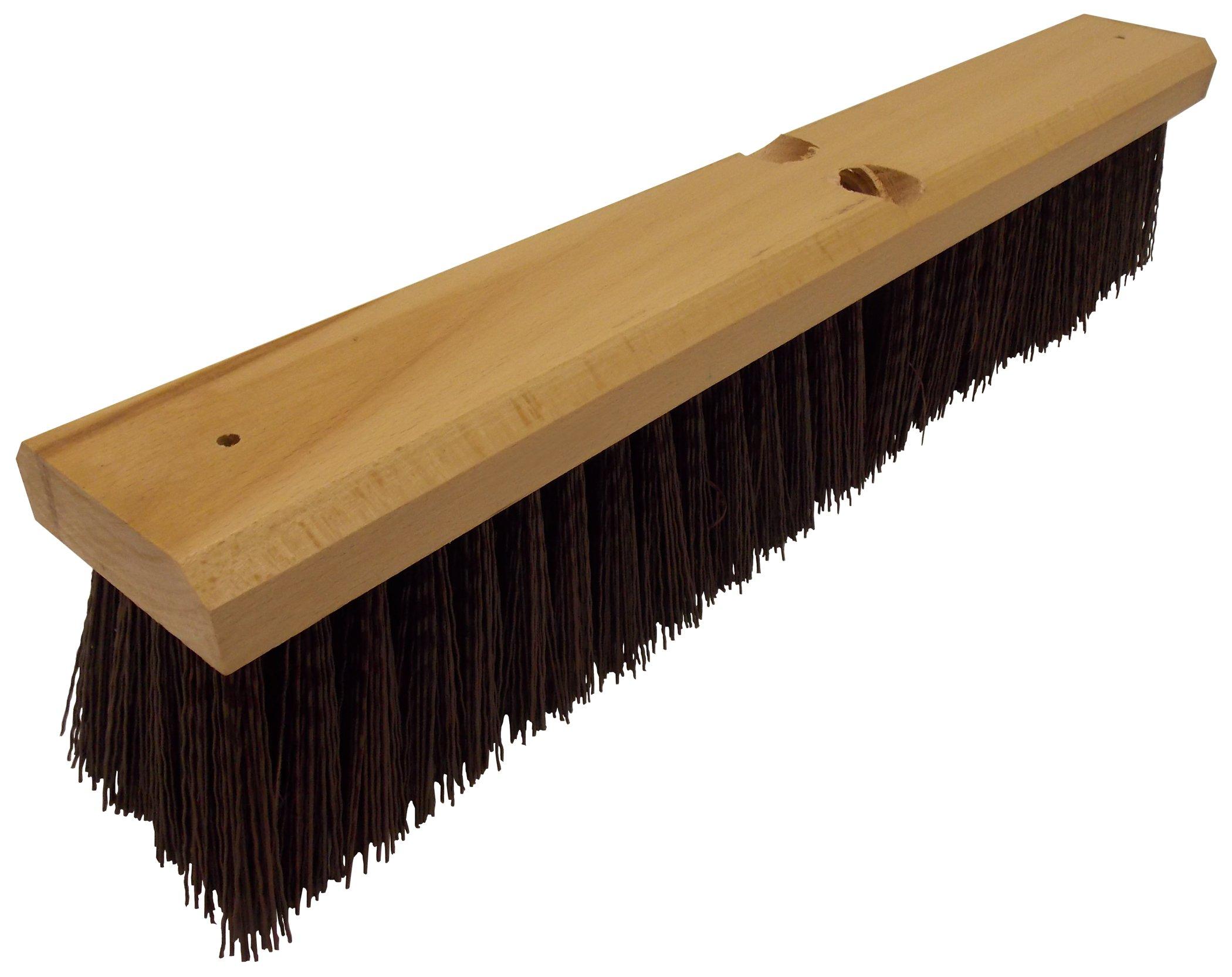 Wilen F103018, Crimped Polypropylene Garage Sweep, 18'' Wood Block, 3'' Bristle Trim (Case of 12)