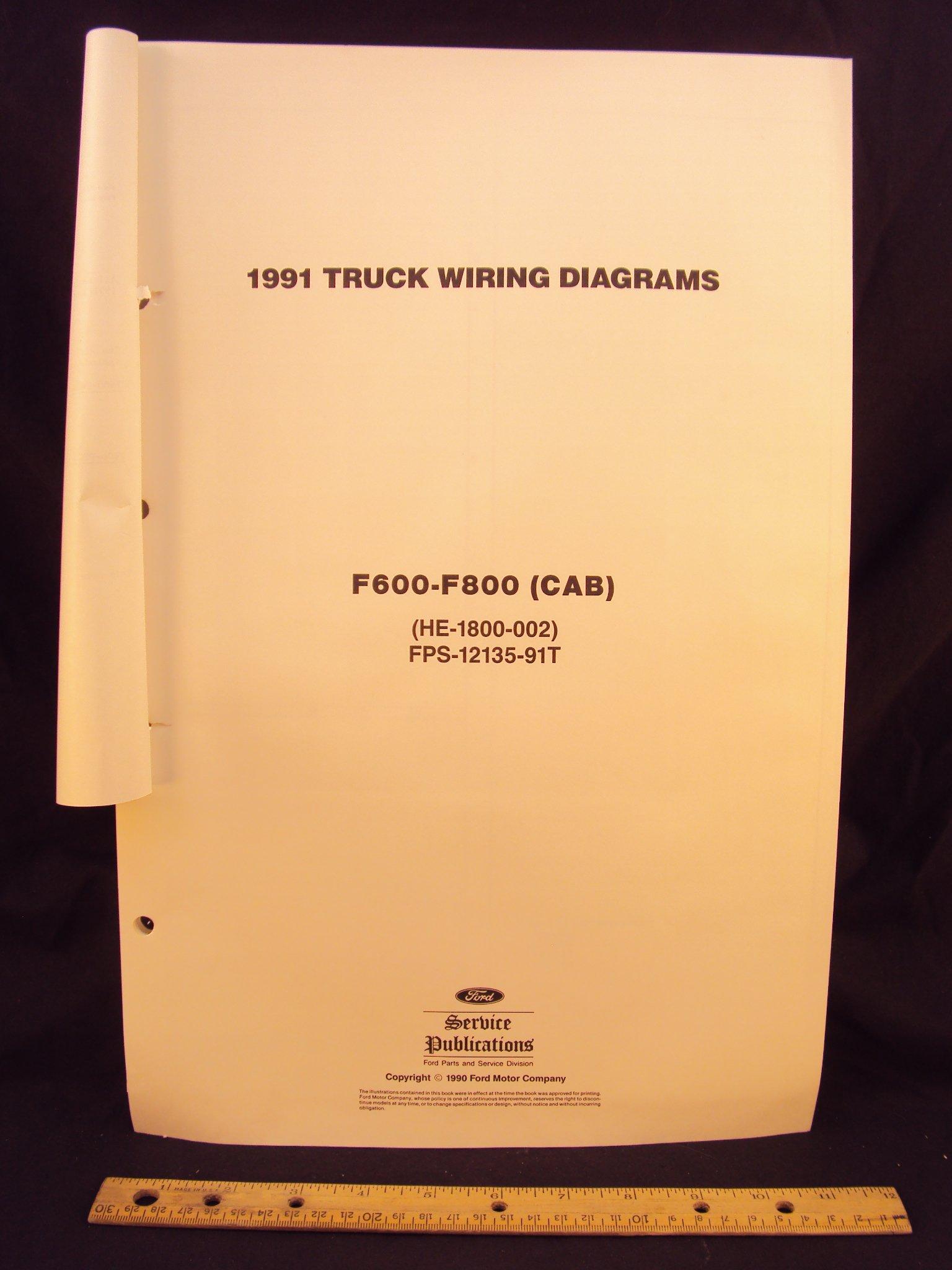 1991 ford f600 f700 f800 series cab truck electrical wiring 1991 ford f600 f700 f800 series cab truck electrical wiring diagrams schematics loose leaf 1 1990