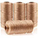 Natural Jute Twine 4Pcs(1312 Foot),Craft Twine String Twine Industrial Packing Materials Packing String for Gifts,DIY Crafts,