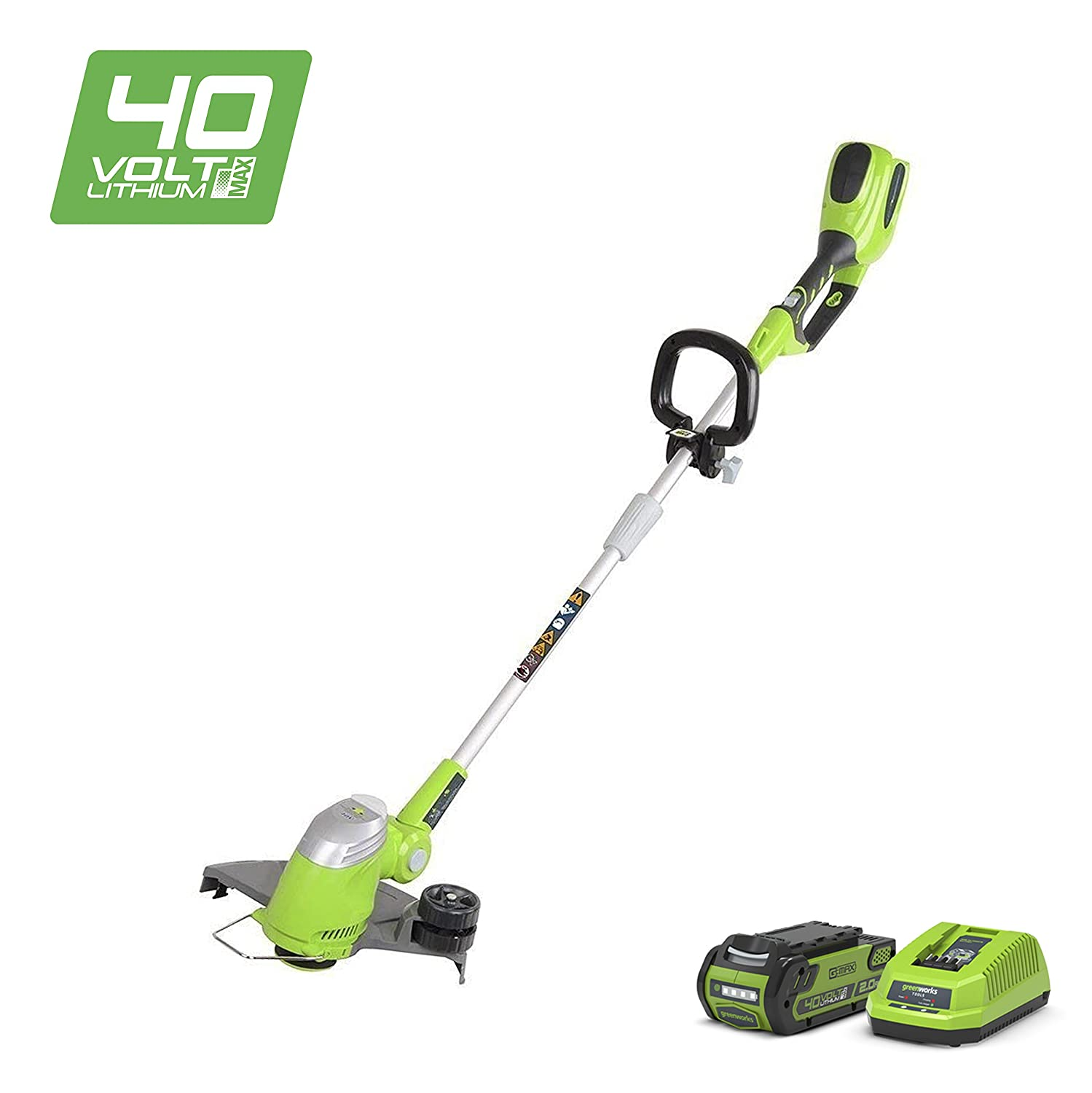 Greenworks Tools 21107 40V Lithium-Ion Cordless Grass Trimmer - 30 cm, green, 21107VA