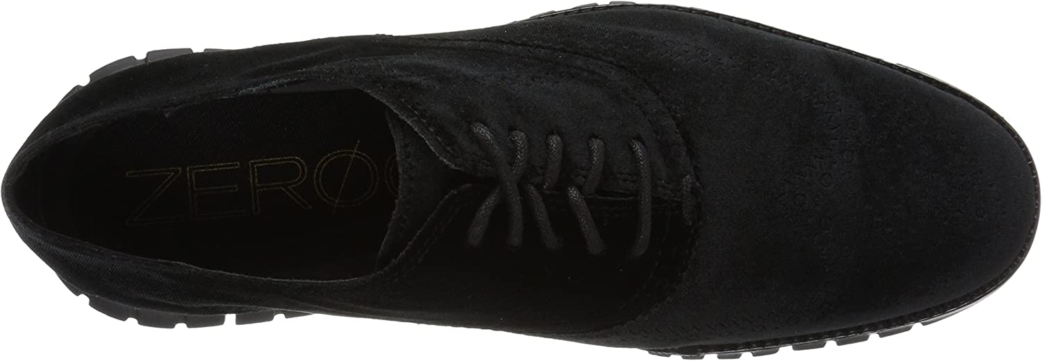 Cole Haan Men's Zerogrand Wing Ox Leather Oxford Textile Black Velvet/Black