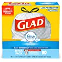 80-Count Glad 13-Gal Tall Kitchen Drawstring Trash Bags