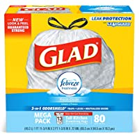 80-CT Glad Tall Kitchen Drawstring Trash Bags 13 Gallon