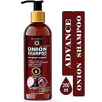 Grandeur Advance Red Onion Hair Growth Shampoo For Hair Growth And Hair Fall Control With Onion Oil, Amla, Methi, Shikakai, Nagarmotha, Brahmi, Aloe Vera With 15 Natural Herbs & Ingredients. 200ml