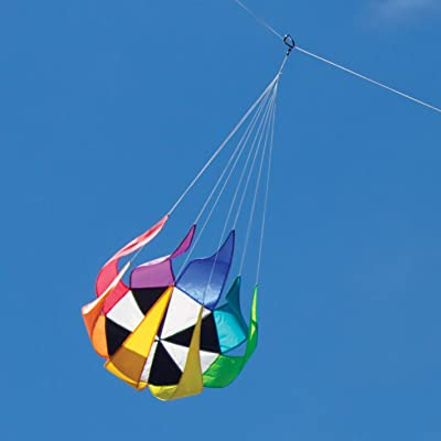 Into The Wind Medium Spinning Star Kite Line Laundry: Toys & Games