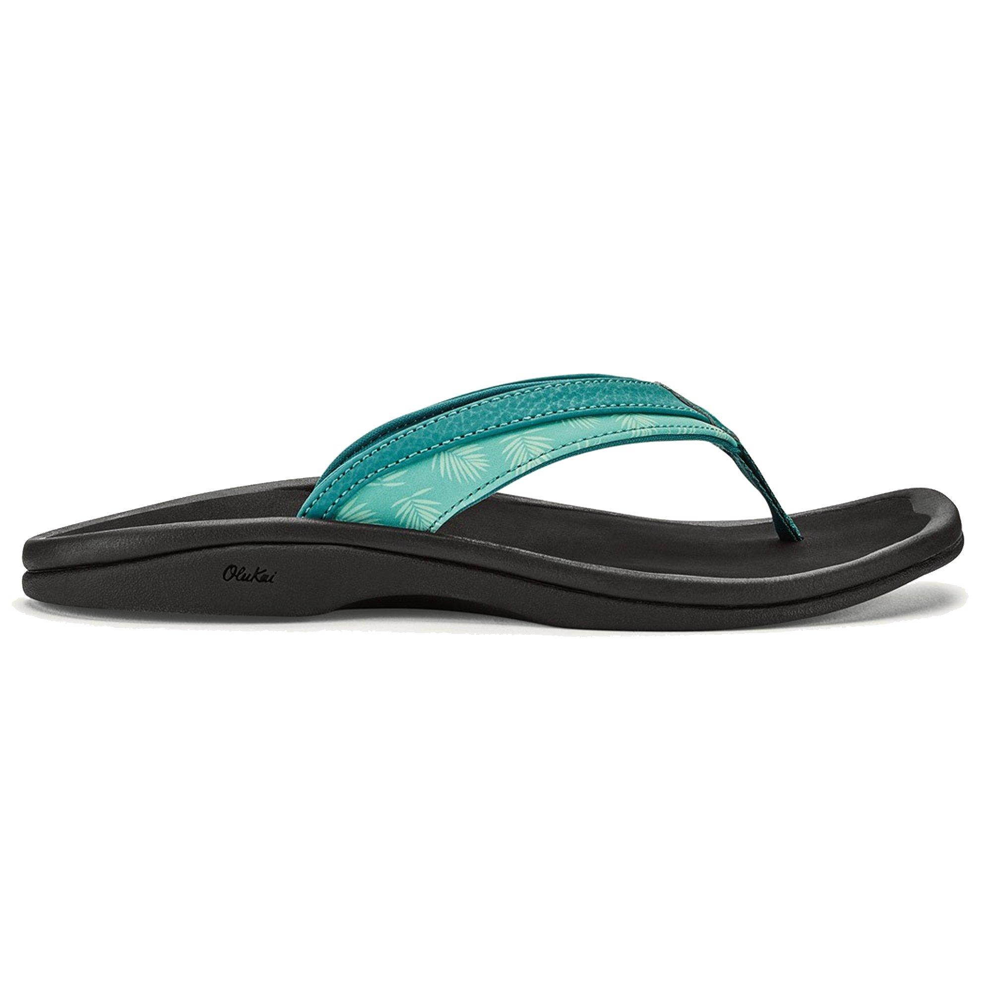 OLUKAI Women's Ohana Sandal, Paradise/Black, 7 M US