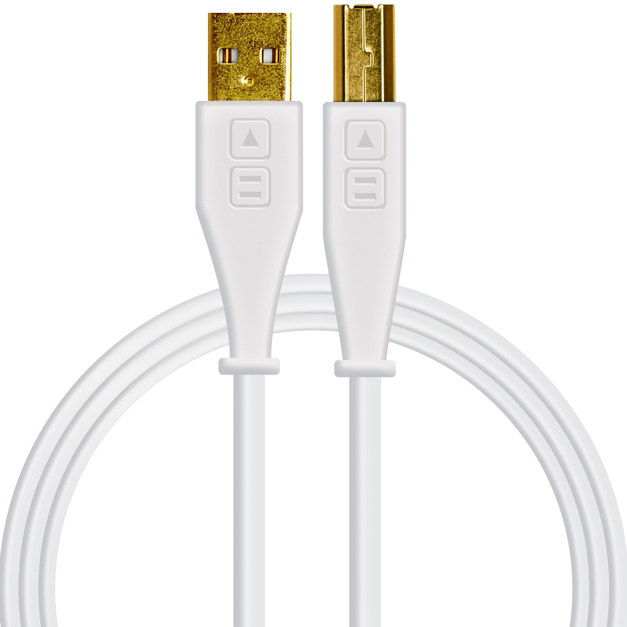 Chroma Cables: Audio Optimized USB-A to USB-B Cable (White)