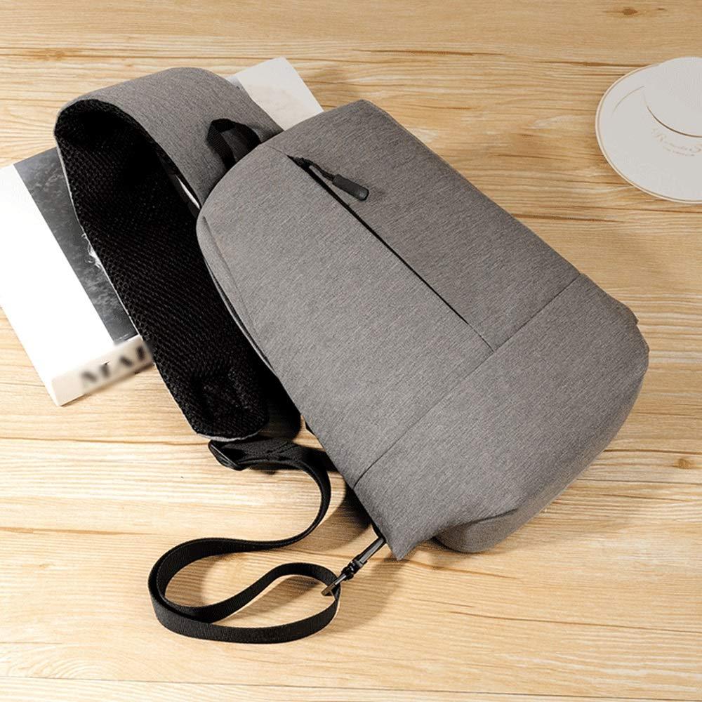 Color : Gray MISLD Shoulder Messenger Bag Sling Bag Crossbody Shoulder Chest Back Pack Anti Theft Travel Bags Daypack for Men Women Large Capacity Shoulder Messenger Bag