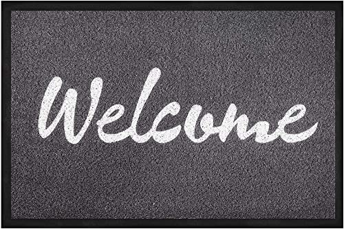 Pragovle Welcome Door mat Funny Rugs for Outdoor and Home and Garden Black 24 36 60cm90cm , Welcome-Black