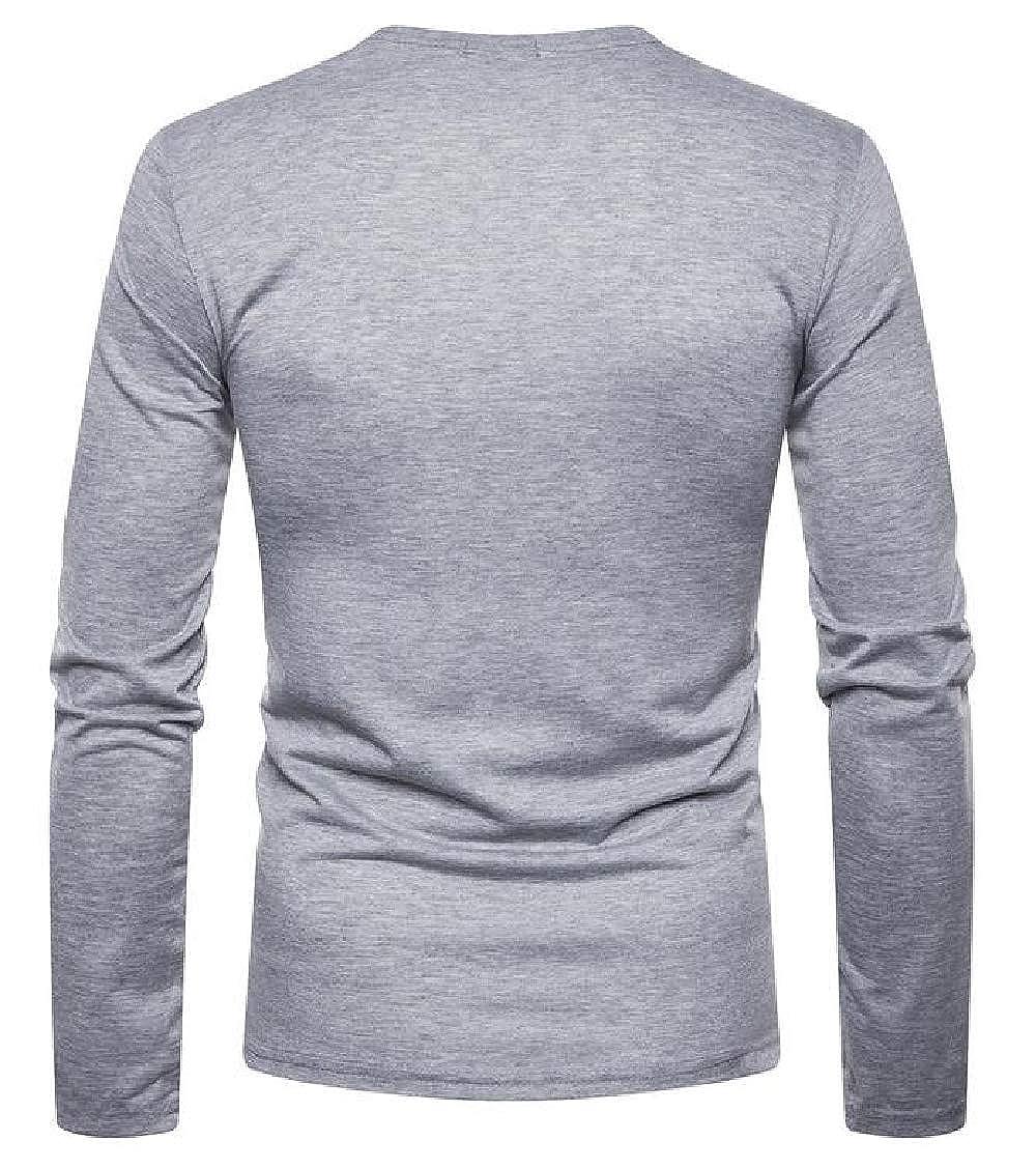 Twcx Men Stylish Slim Fit Plain Patchwork Buttons Open Front Long Sleeve Cardigan