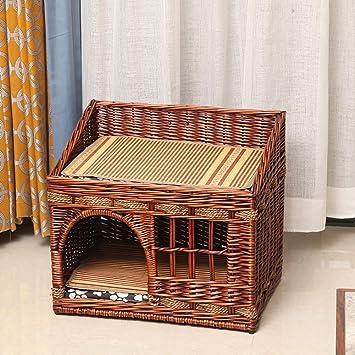 YANGYONGLI Nido De Mascotas Productos para Mascotas Casa para Mascotas Interiores Dibujos Animados Rota Verano Manual